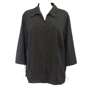 Black/White Polka Dots Shirts